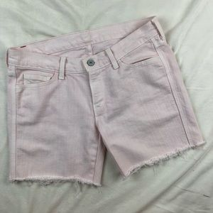 7 FOR ALL MANKIND Colette Jeans Cutoff Shorts Pink